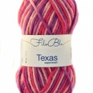 Fir de tricotat sau crosetat - Fire din lana 100% Filo Blu - Texas - 05