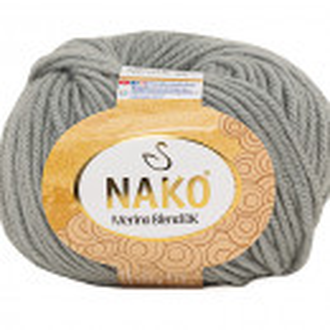 Fir de tricotat sau crosetat - Fire din lana 100% Nako Merino Blend DK - GRI COD 3298