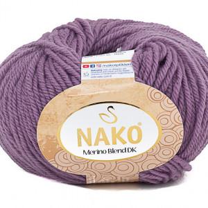 Fir de tricotat sau crosetat - Fire din lana 100% Nako Merino Blend DK - MOV COD 10506