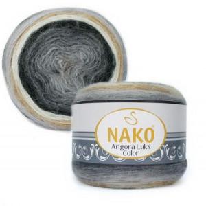 Fir de tricotat sau crosetat - Fire tip mohair acril NAKO ANGORA LUKS COLOR 81914