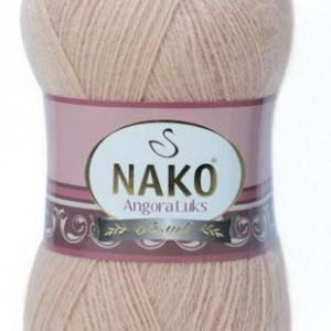 Fir de tricotat sau crosetat - Fire tip mohair acril NAKO ANGORA LUKS CREAM 10042