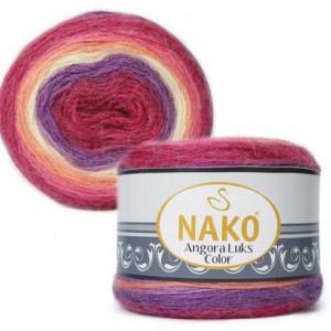 Fir de tricotat sau crosetat - Fire tip mohair acril NAKO ANGORA LUKS COLOR 81917