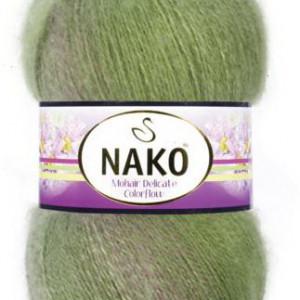 Fir de tricotat sau crosetat - Fire tip mohair acril NAKO MOHAIR DELICATE COLORFLOW DEGRADE 76057