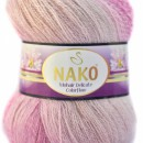 Fir de tricotat sau crosetat - Fire tip mohair acril NAKO MOHAIR DELICATE COLORFLOW DEGRADE 28081