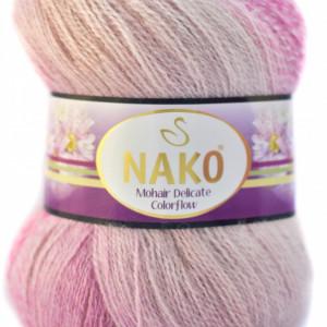 Fir de tricotat sau crosetat - Fire tip mohair acril NAKO MOHAIR DELICATE COLORFLOW DEGRADE 28081