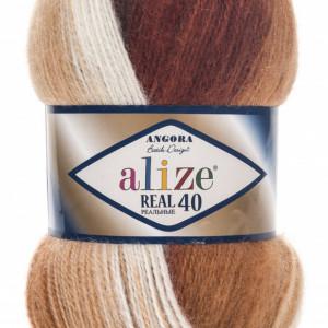 Fir de tricotat sau crosetat - Fire tip mohair din acril Alize Angora Real 40 Batik degrade 2626