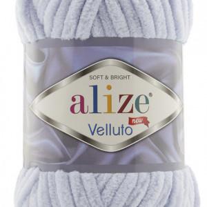 Fir de tricotat sau crosetat - Fire tip mohair din acril ALIZE VELLUTO GRI 416