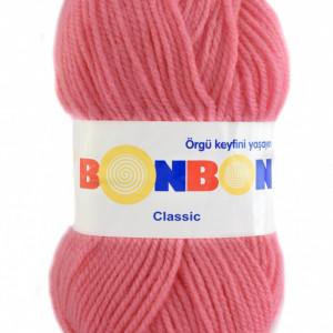 Fir de tricotat sau crosetat - Fire tip mohair din acril BONBON CLASIC ROZ 98239