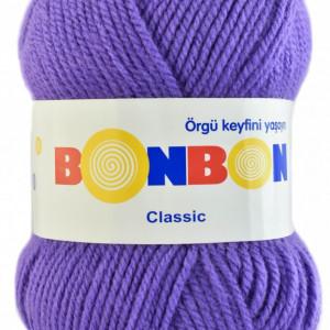Fir de tricotat sau crosetat - Fire tip mohair din acril BONBON CLASIC MOV 98241