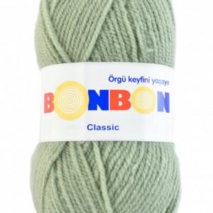 Fir de tricotat sau crosetat - Fire tip mohair din acril BONBON CLASIC VERNIL 98327