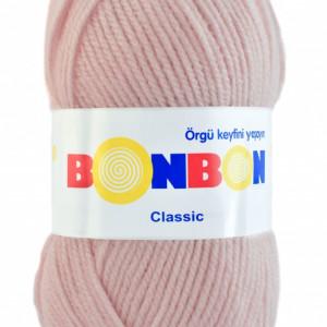 Fir de tricotat sau crosetat - Fire tip mohair din acril BONBON CLASIC ROZ 98320