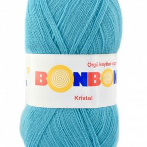 Fir de tricotat sau crosetat - Fire tip mohair din acril BONBON KRISTAL ALBASTRU 98238