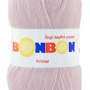Fir de tricotat sau crosetat - Fire tip mohair din acril BONBON KRISTAL crem 98331