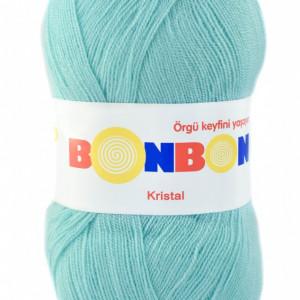 Fir de tricotat sau crosetat - Fire tip mohair din acril BONBON KRISTAL turcoaz 98203
