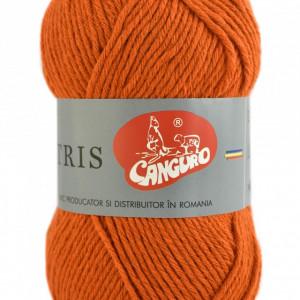 Fir de tricotat sau crosetat - Fire tip mohair din acril CANGURO - TRIS PORTOCALIU 399