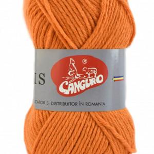 Fir de tricotat sau crosetat - Fire tip mohair din acril CANGURO - TRIS PORTOCALIU 313