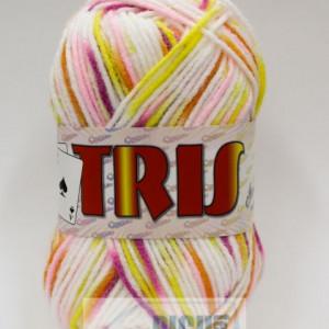 Fir de tricotat sau crosetat - Fire tip mohair din acril CANGURO - TRIS IMPRIMAT DEGRADE 356