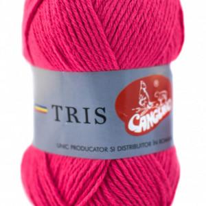 Fir de tricotat sau crosetat - Fire tip mohair din acril CANGURO - TRIS ROZ 308