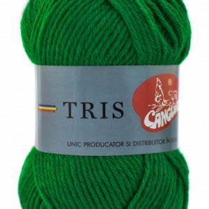 Fir de tricotat sau crosetat - Fire tip mohair din acril CANGURO - TRIS VERDE 326