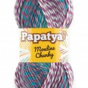 Fir de tricotat sau crosetat - Fire tip mohair din acril Kamgarn Papatya Mouline Chunky Degrade 6581