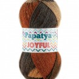 Fir de tricotat sau crosetat - Fire tip mohair din acril Kamgarn Papatya Joyful degrade 08