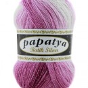 Fir de tricotat sau crosetat - Fire tip mohair din acril Kamgarn Papatya Silver Batik degrade 04