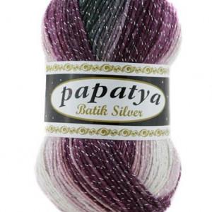 Fir de tricotat sau crosetat - Fire tip mohair din acril Kamgarn Papatya Silver Batik degrade 22