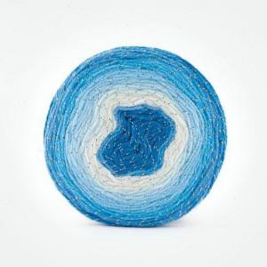 Fir de tricotat sau crosetat - Fire tip mohair din acril Kamgarn Papatya CAKE SILVER degrade 310