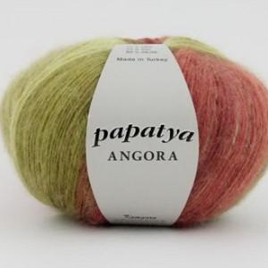 Fir de tricotat sau crosetat - Fire tip mohair din acril Kamgarn Papatya Angora degrade 16