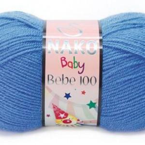 Fir de tricotat sau crosetat - Fire tip mohair din acril Nako Baby bleo 1256