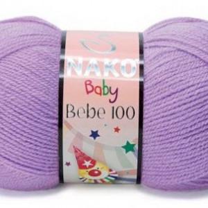 Fir de tricotat sau crosetat - Fire tip mohair din acril Nako Baby LILA 1036