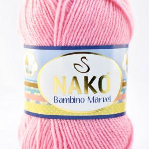 Fir de tricotat sau crosetat - Fire tip mohair din acril Nako Baby MARVEL ROZ 229