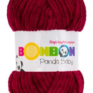 Fir de tricotat sau crosetat - Fire tip mohair din acril NAKO BONBON PANDA BABY ROSU 3089