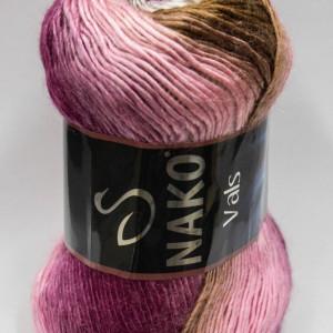 Fir de tricotat sau crosetat - Fire tip mohair din acril premium Nako VALS DEGRADE 86330