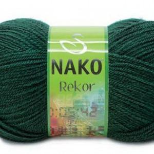 Fir de tricotat sau crosetat - Fire tip mohair din acril premium Nako REKOR VERDE 3601