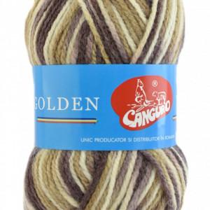 Fir de tricotat sau crosetat - Fire tip mohair din acril si lana GOLDEN WOOL IMPRIMAT - 357