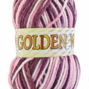 Fir de tricotat sau crosetat - Fire tip mohair din acril si lana GOLDEN WOOL IMPRIMAT - 361