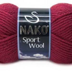 Fir de tricotat sau crosetat - Fire tip mohair din acril si lana Nako Sport Wool GRENA 6592