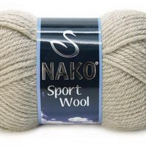 Fir de tricotat sau crosetat - Fire tip mohair din acril si lana Nako Sport Wool GRI 10007