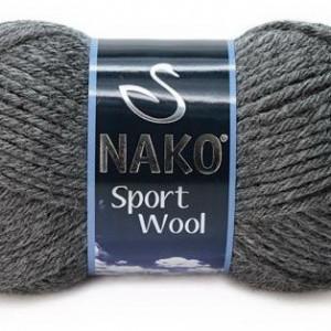 Fir de tricotat sau crosetat - Fire tip mohair din acril si lana Nako Sport Wool GRI 193