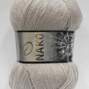 Fir de tricotat sau crosetat - Fire tip mohair din acril si poliester metalic NAKO LAME FINE GRI 3079SE