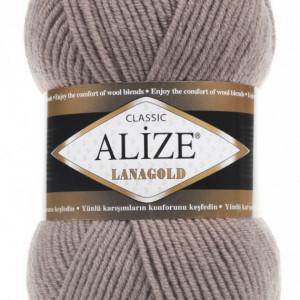 Fir de tricotat sau crosetat - Fire tip mohair din lana 49% si acril 51% Alize Lanagold Bej 584