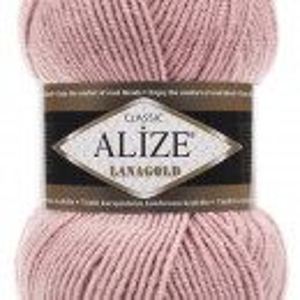 Fir de tricotat sau crosetat - Fire tip mohair din lana 49% si acril 51% Alize Lanagold Pudra 161