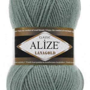 Fir de tricotat sau crosetat - Fire tip mohair din lana 49% si acril 51% Alize Lanagold Azur 386