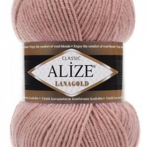 Fir de tricotat sau crosetat - Fire tip mohair din lana 49% si acril 51% Alize Lanagold Roz 173