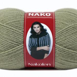 Fir de tricotat sau crosetat - Fire tip mohair din lana 50% si acril 50% Nakolen VERDE 5054