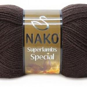 Fir de tricotat sau crosetat - Fire tip mohair din lana 50% si acril 50% Nako Superlambs Special maro 4987