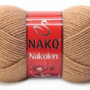 Fir de tricotat sau crosetat - Fire tip mohair din lana 50% si acril 50% Nakolen BEJ 221