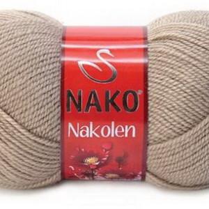 Fir de tricotat sau crosetat - Fire tip mohair din lana 50% si acril 50% Nakolen BEJ 257