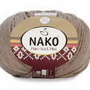 Fir de tricotat sau crosetat - Fire tip mohair din lana si polyamida Nako PURE SOCK PLUS BEJ 257